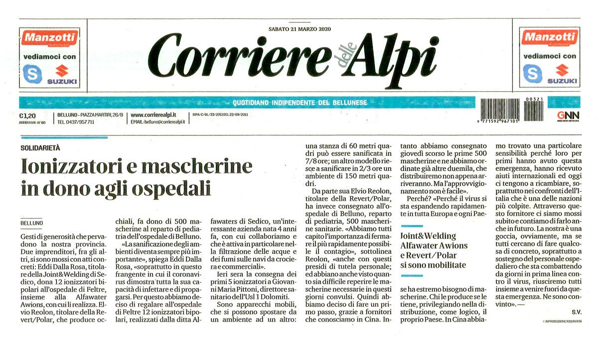 12 ionizzato bipolari all'ospedale di Feltre - Corriere delle Alpi