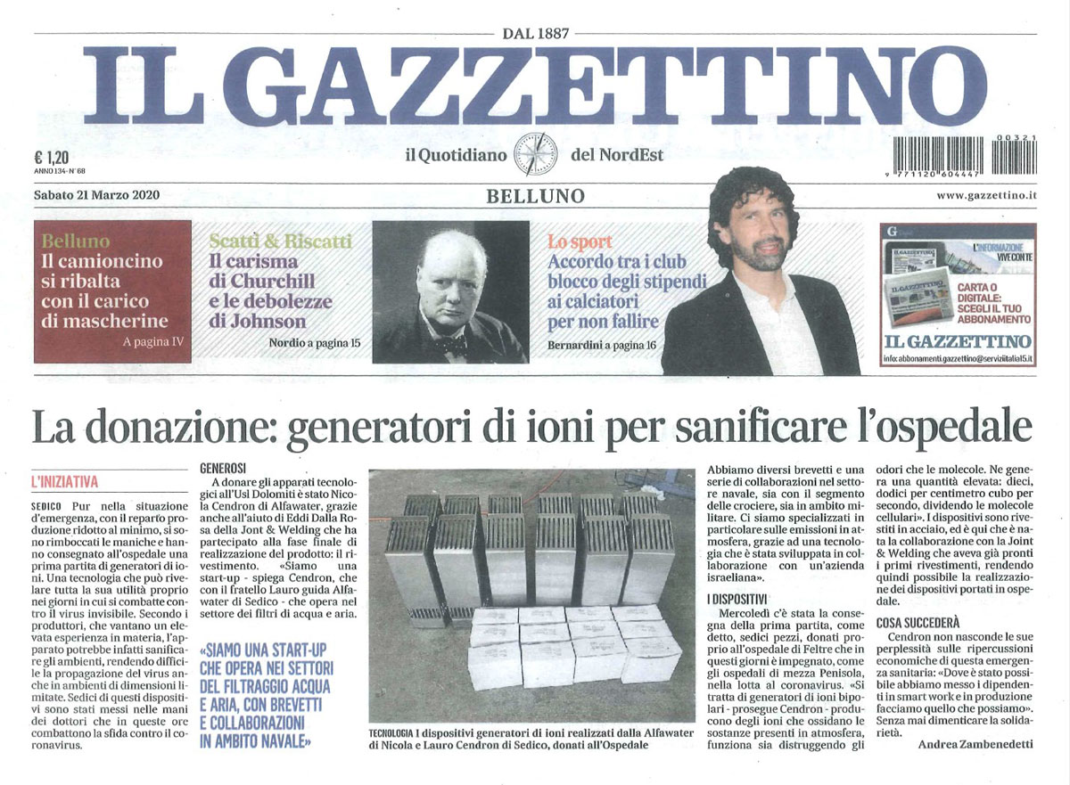 Il Gazzettino 21/03/2020