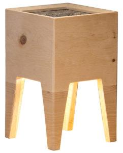 Ionizzatore e lampada in legno Vaia